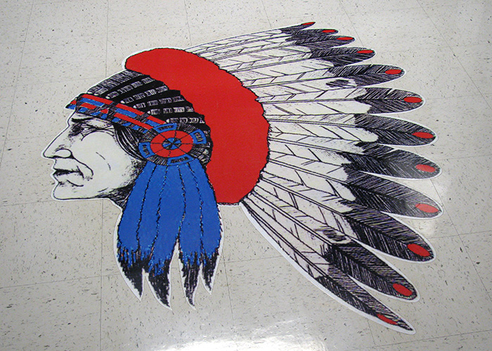 Jim Ned Indians Floor Decal