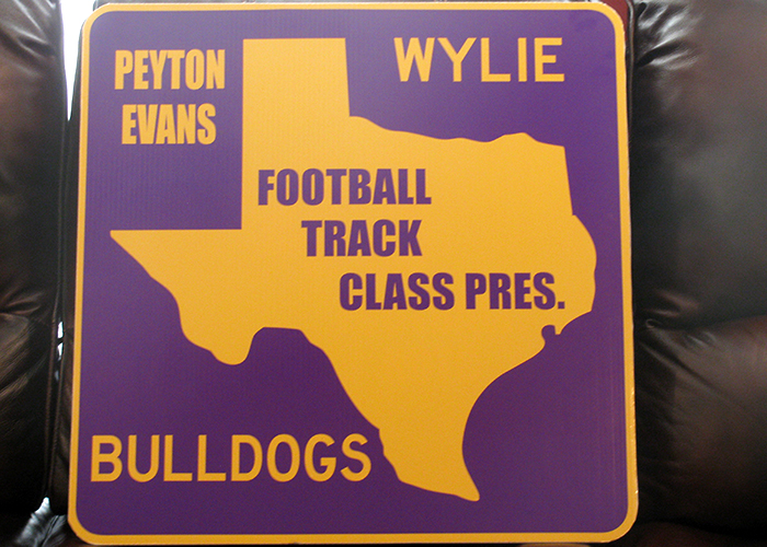 Wylie Football Track Class President Sign