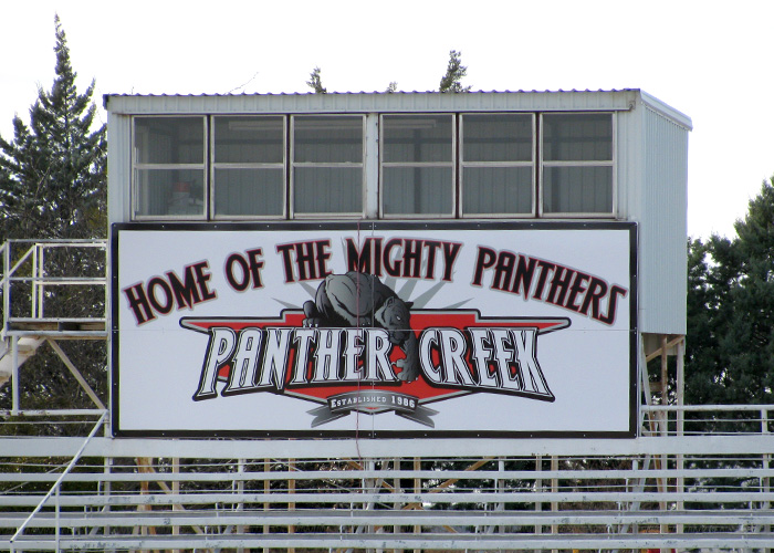 Panther Creek Mighty Panthers - Stadium Sign