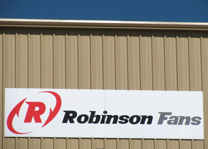 Robinson Fans - Business Sign