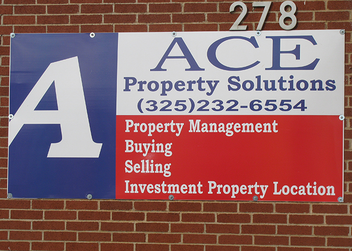 Ace Property Solutions - Business Sign
