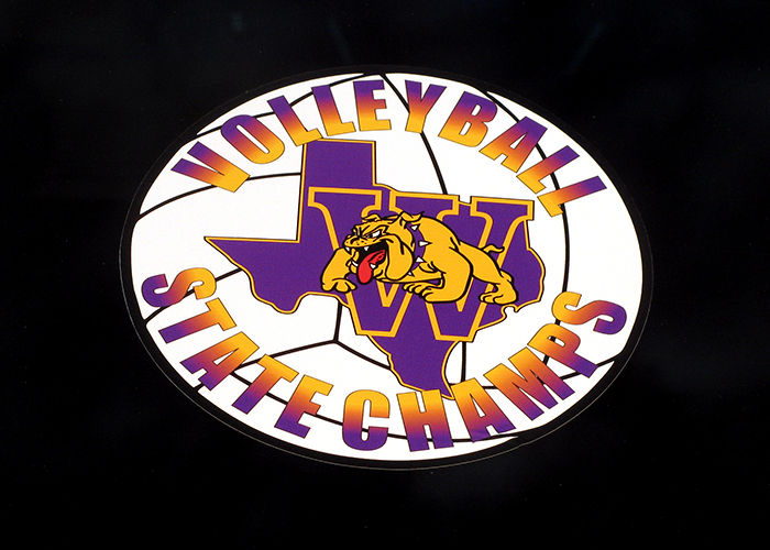 Wylie Volleyball State Champs - Sports Decal